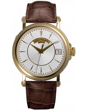 Replica Patek Philippe Calatrava Automatic Opaline Dial 18 kt Yellow Gold Mens Watch