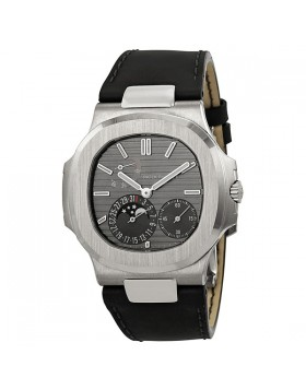 Replica Patek Philippe Nautilus Automatic Moonphase Slate Grey Dial Mens Watch
