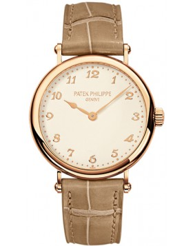 Replica Patek Philippe Calatrava Cream Dial 18k Rose Gold Ladies Watch