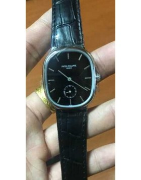 Patek Philippe Golden Ellipse Black Dial Watch Replica
