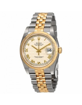 Rolex Datejust 36 Ivory Dial Automatic Mens Watch Fake