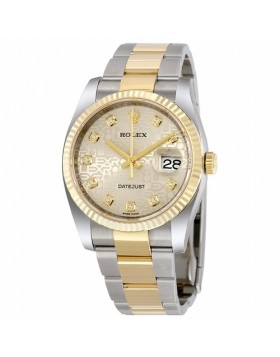 Rolex Datejust 36 Silver Jubilee Dial Automatic Mens Watch Fake