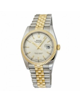 Rolex Datejust 36 Silver Dial Automatic Mens Watch Fake