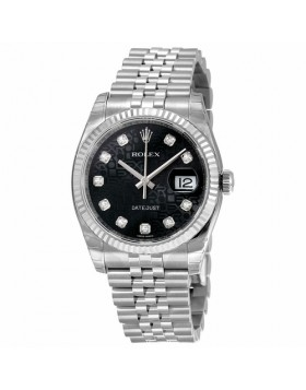 Rolex Oyster Perpetual 36 Black Jubilee Automatic Mens Watch Fake