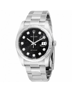 Rolex Oyster Perpetual 36 White Gold Automatic Mens Watch Fake