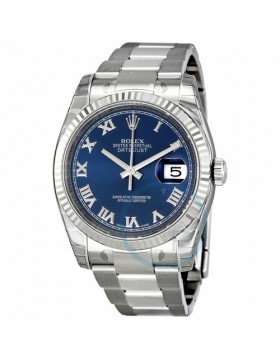 Rolex Datejust 36 Blue Dial Automatic Ladies Watch Fake