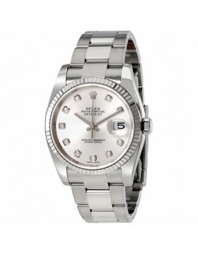 Rolex Datejust 36 Silver Dial Stainless Steel Automatic Mens Watch Fake