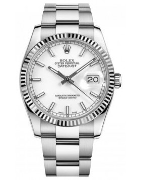 Rolex Datejust 36 White Dial White Gold Automatic Mens Watch Fake