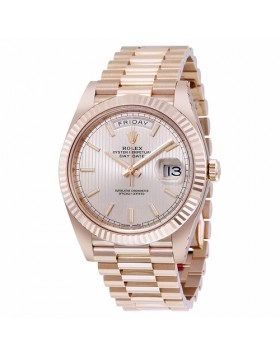 Rolex Day-Date 40 Sundust Stripe Dial Automatic Mens Watch Fake