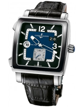 Replica Ulysse Nardin Quadrato Blue and Black Dial Stainless Steel Mens Watch