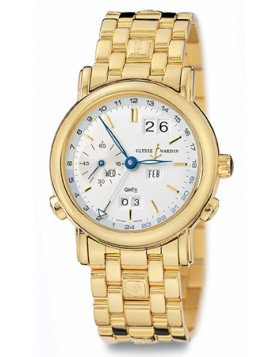 Replica Ulysse Nardin Perpetual Silver Dial 18kt Yellow Gold Mens Watch