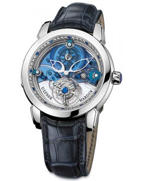 Replica Ulysse Nardin Royal Blue Tourbillon Platinum Mens Watch